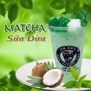 Matcha sữa dừa an an